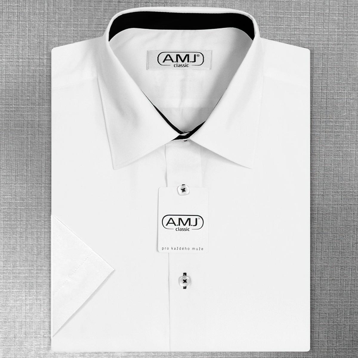 Pánská košile AMJ jednobarevná JKR018 b2db92f963