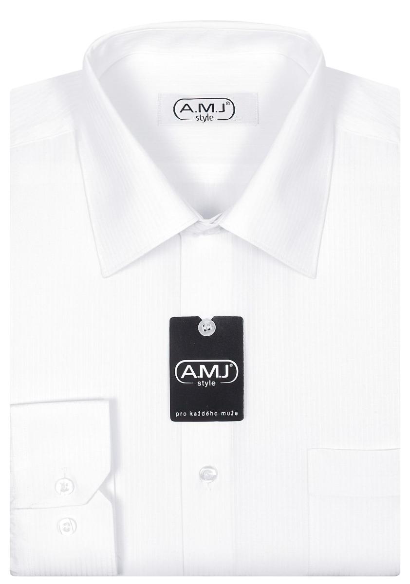 Pánská košile AMJ vzorovaná VDS607, dlouhý rukáv, slim fit
