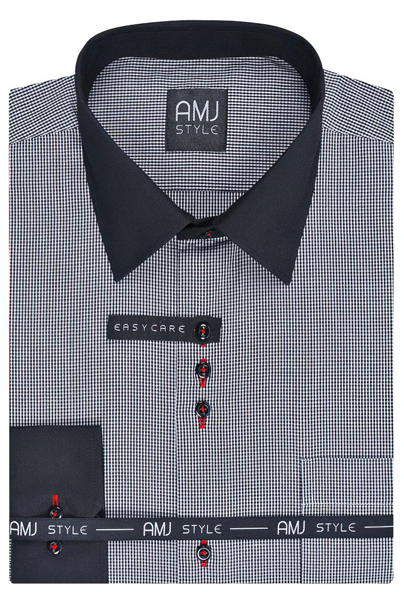 Pánská košile AMJ kostičkovaná VDZ777, dlouhý rukáv