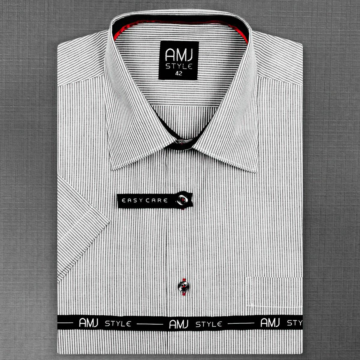 Pánská košile AMJ vzorovaná VKR648, krátký rukáv