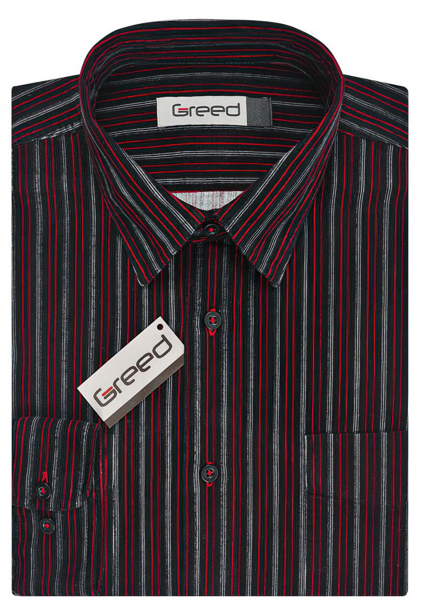 Pánská košile GREED manšestrová SDM324, dlouhý rukáv