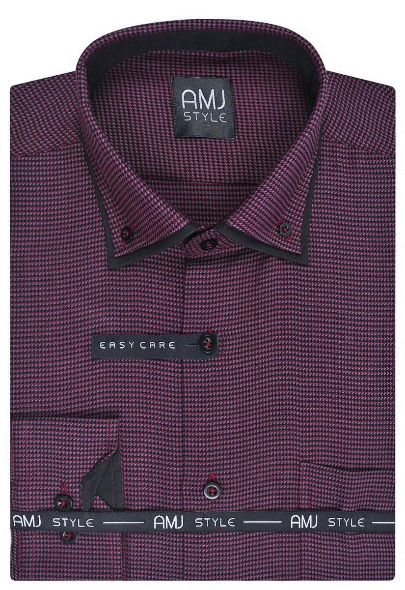 Pánská košile AMJ vzorovaná VDL799, dlouhý rukáv