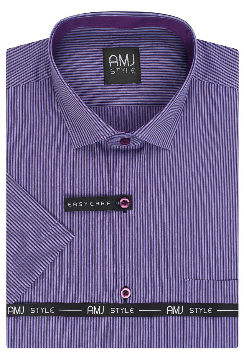 Pánská košile AMJ proužkovaná VKR818, krátký rukáv
