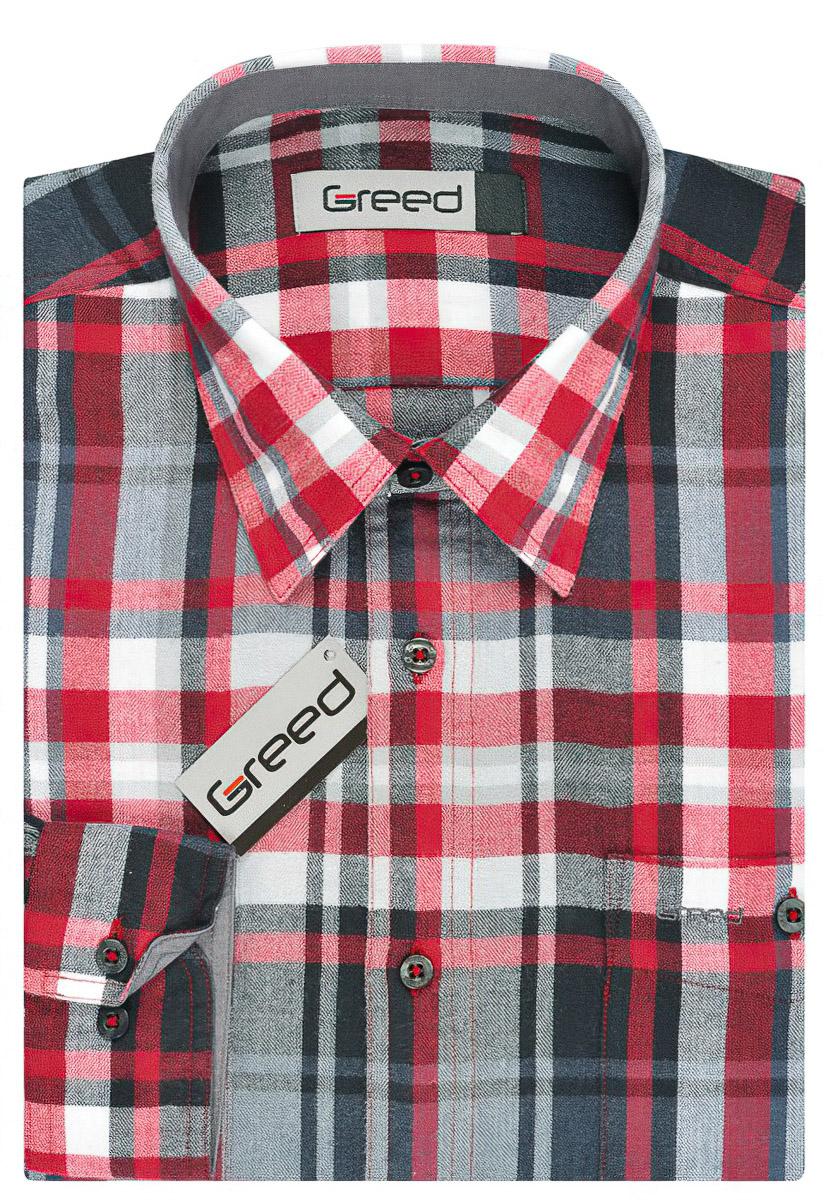 Pánská košile GREED flanelová SDF323, dlouhý rukáv