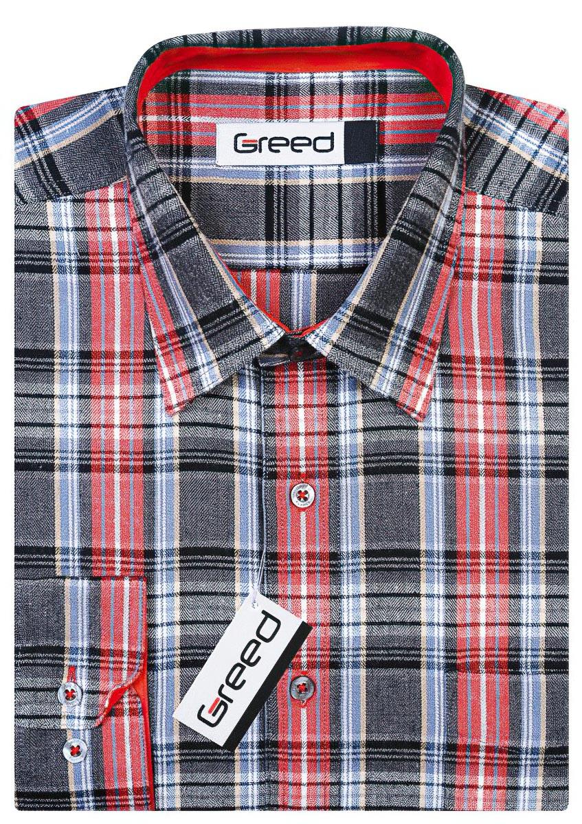 Pánská košile GREED flanelová SDF308, dlouhý rukáv