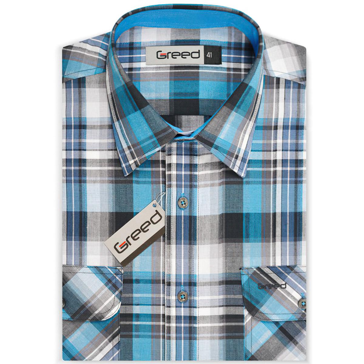 Pánská košile GREED sportovní SK315, krátký rukáv