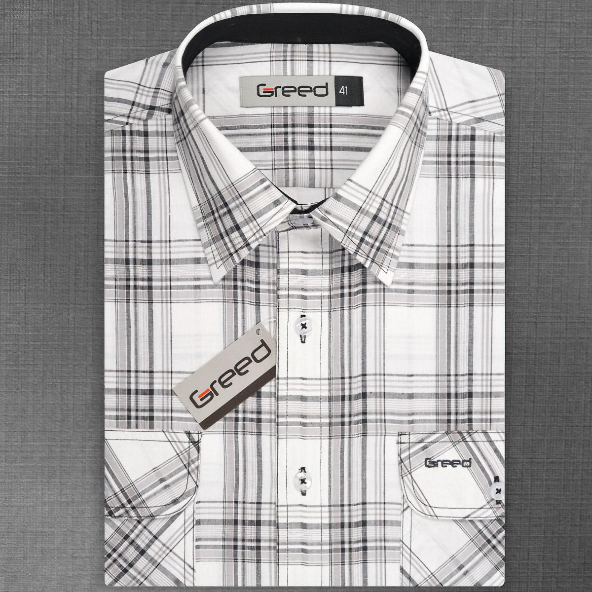 Pánská košile GREED sportovní SK314, krátký rukáv