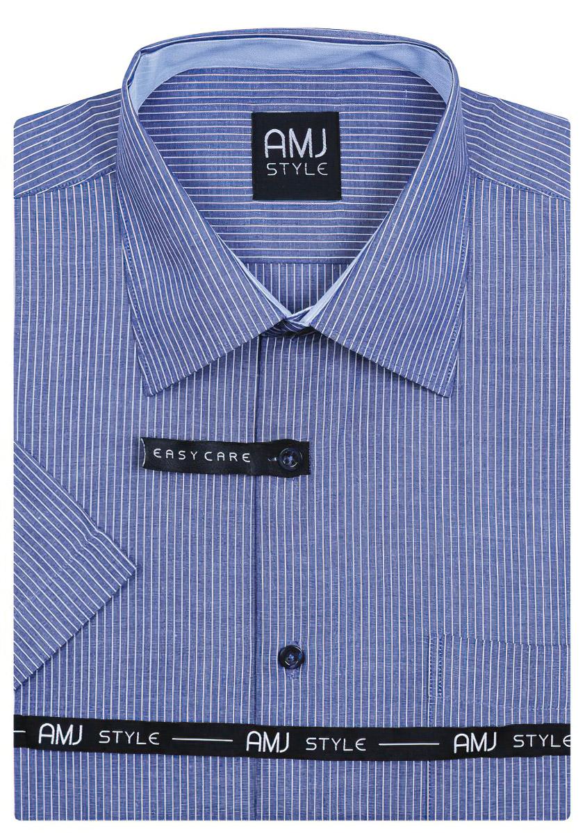 Pánská košile AMJ vzorovaná VKR657, krátký rukáv