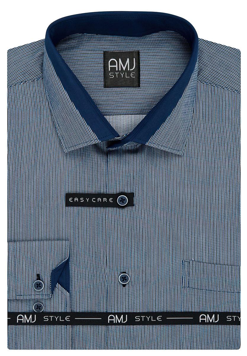 Pánská košile AMJ modrý proužek VDZ920, dlouhý rukáv