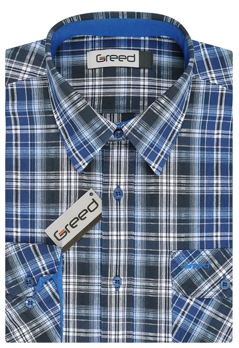 Pánská košile GREED sportovní SD326, dlouhý rukáv