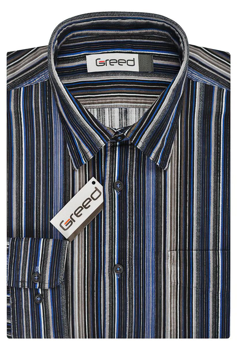 Pánská košile GREED manšestrová SDM325, dlouhý rukáv