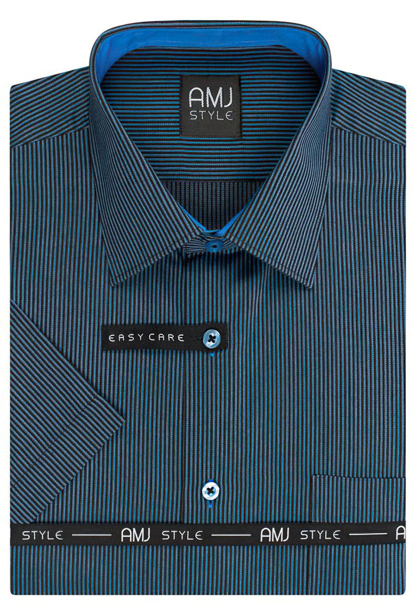 Pánská košile AMJ proužkovaná VKR812, krátký rukáv