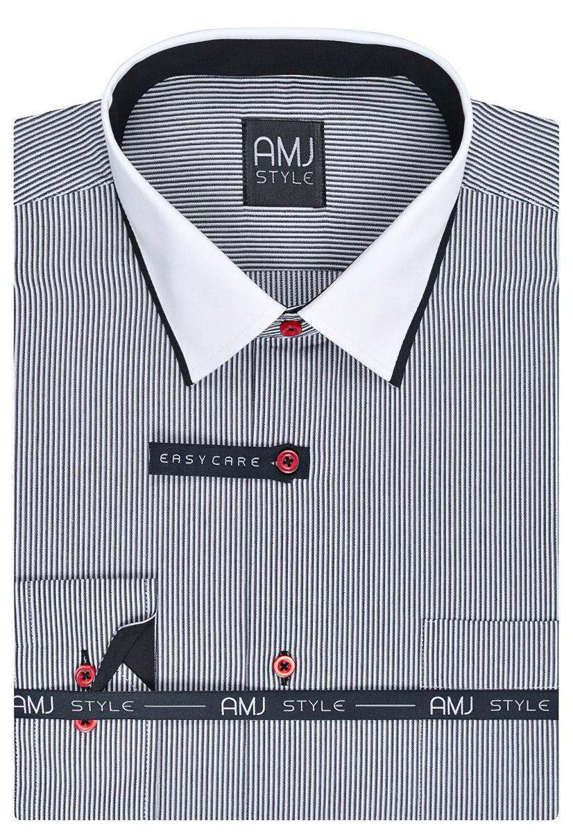 Pánská košile AMJ proužkovaná VDL770, dlouhý rukáv
