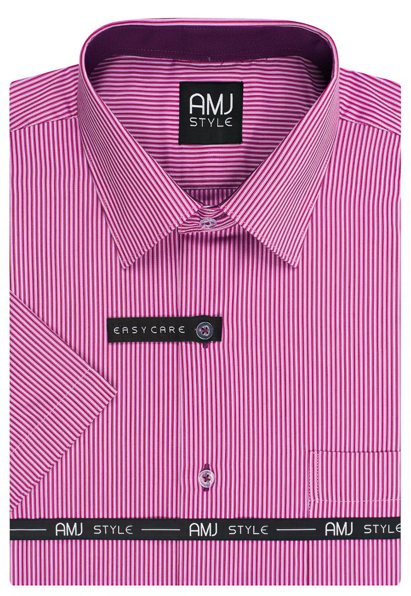 Pánská košile AMJ proužkovaná VKR742, krátký rukáv
