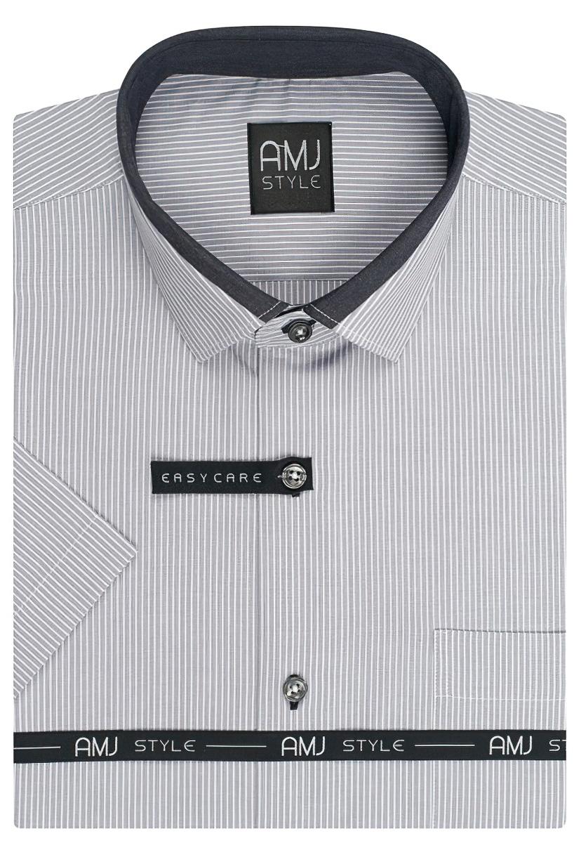 Pánská košile AMJ proužkovaná VKZ831, krátký rukáv