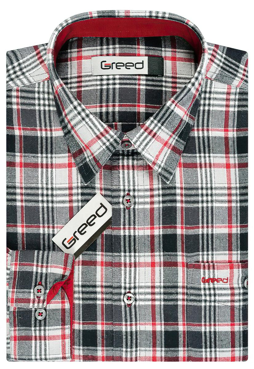Pánská košile GREED flanelová SDF329, dlouhý rukáv