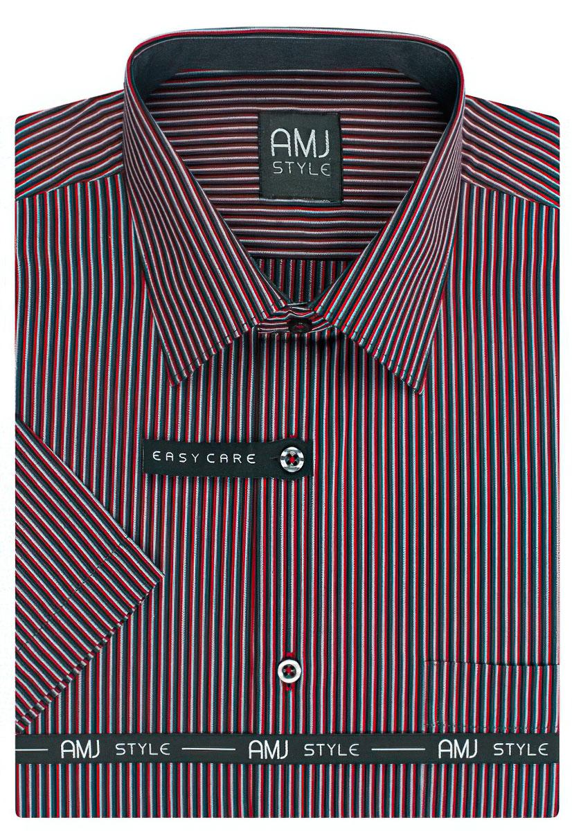 Pánská košile AMJ proužkovaná VKR809, krátký rukáv