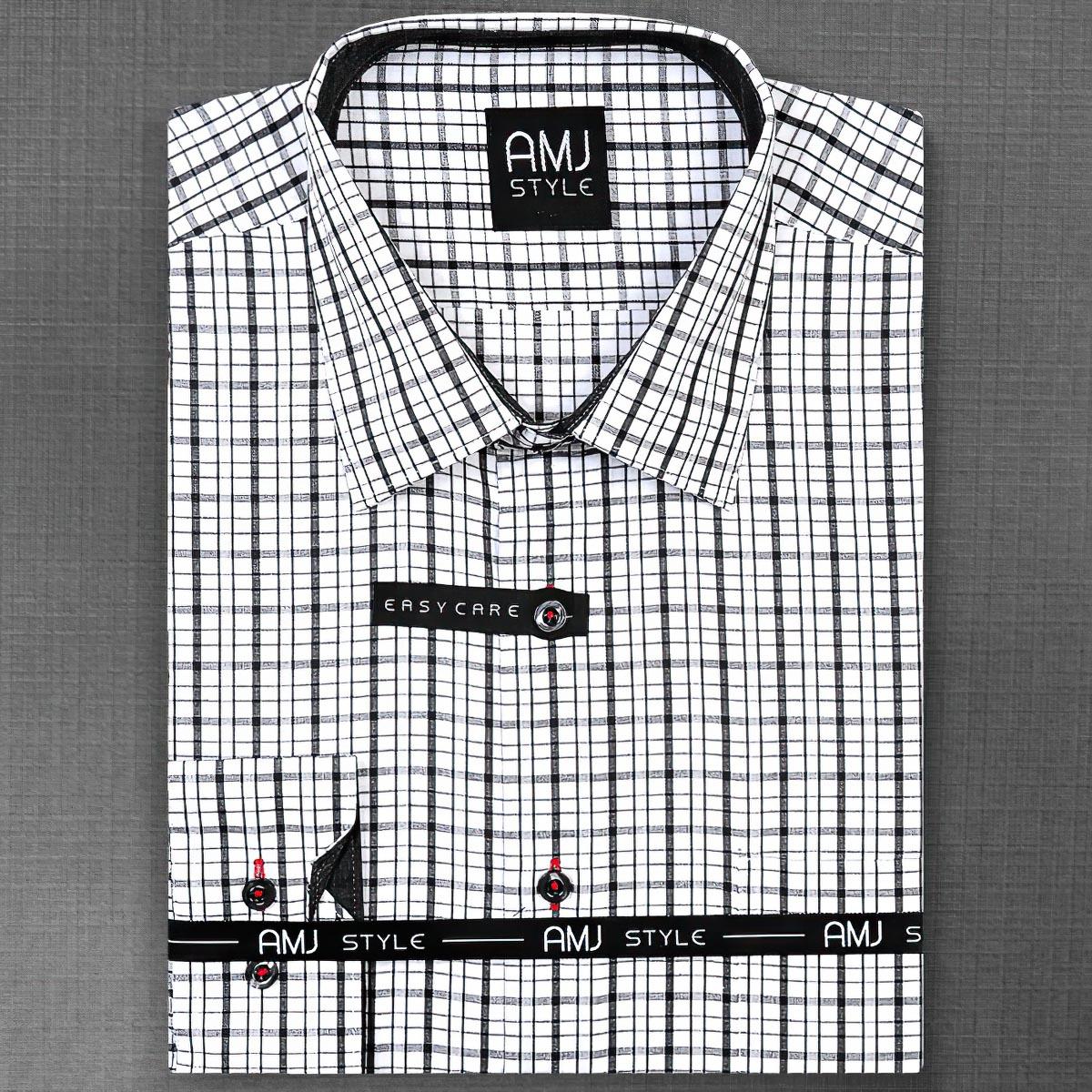 Pánská košile AMJ vzorovaná VDR679, dlouhý rukáv