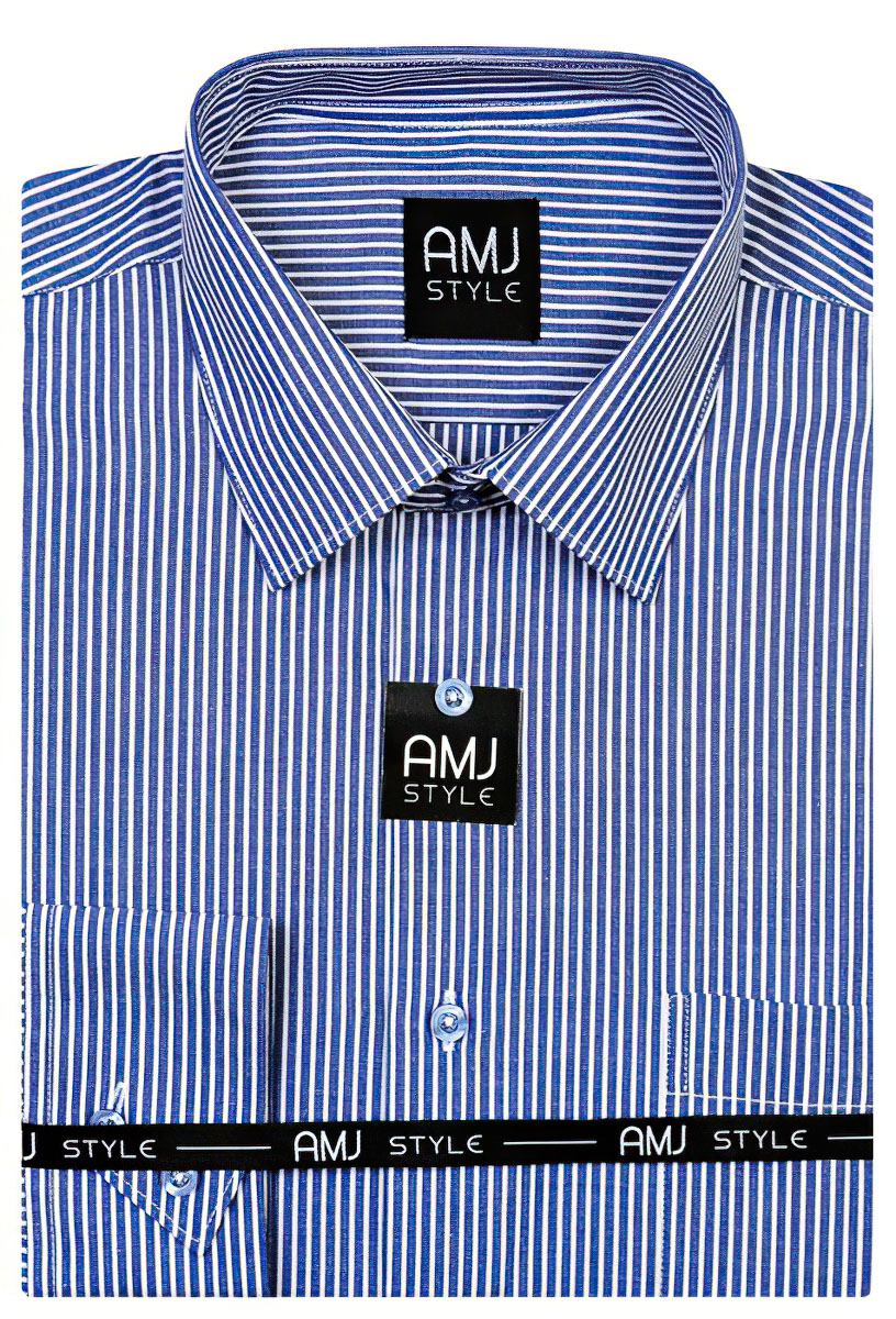 Pánská košile AMJ vzorovaná VD707, dlouhý rukáv