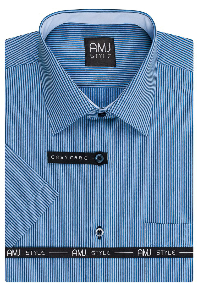 Pánská košile AMJ proužkovaná VKR813, krátký rukáv