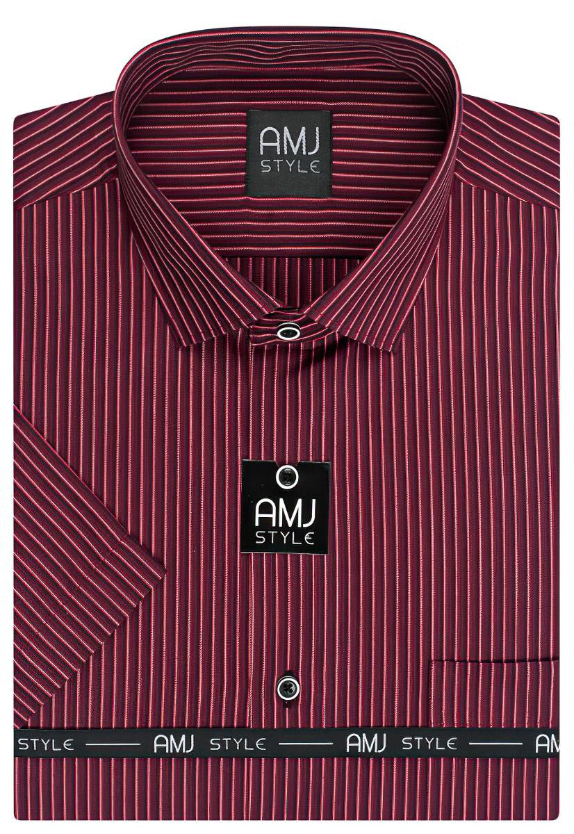 Pánská košile AMJ proužkovaná VK815, krátký rukáv