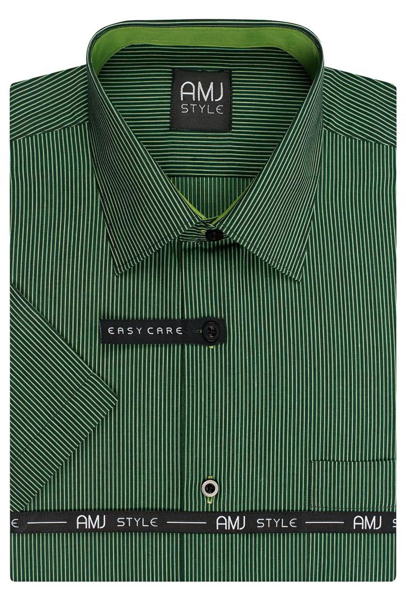 Pánská košile AMJ proužkovaná VKR817, krátký rukáv