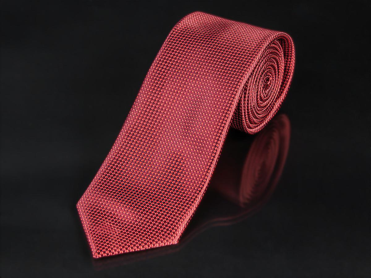 Kravata pánská AMJ, puntíkový vzor KU0959, červená