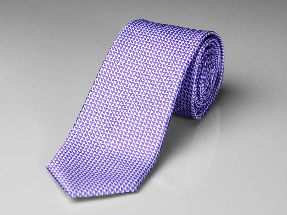 Kravata pánská AMJ, kostkovaná KU0637, fialová