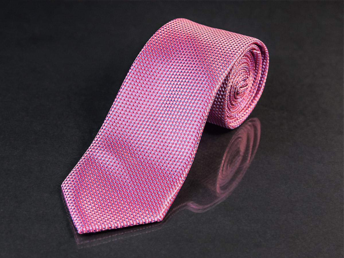 Kravata pánská AMJ, KU0919, růžová / jemná struktura