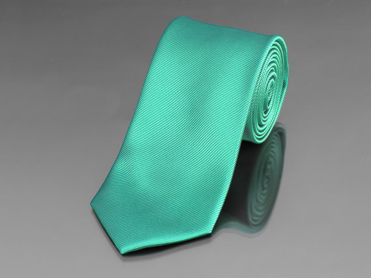 Kravata pánská AMJ úzká proužkovaná KU0010, zelená