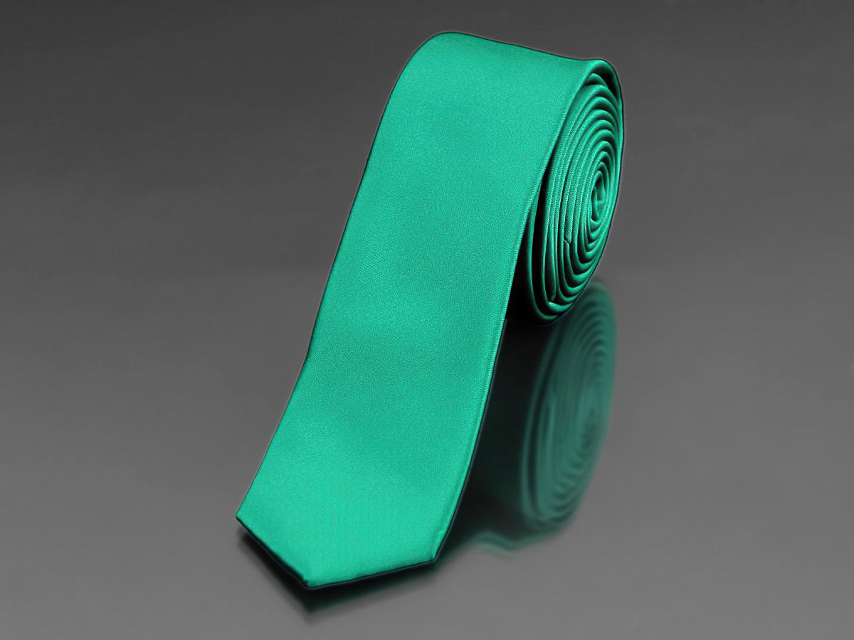 Kravata pánská AMJ úzká jednobarevná KI0022, zelená