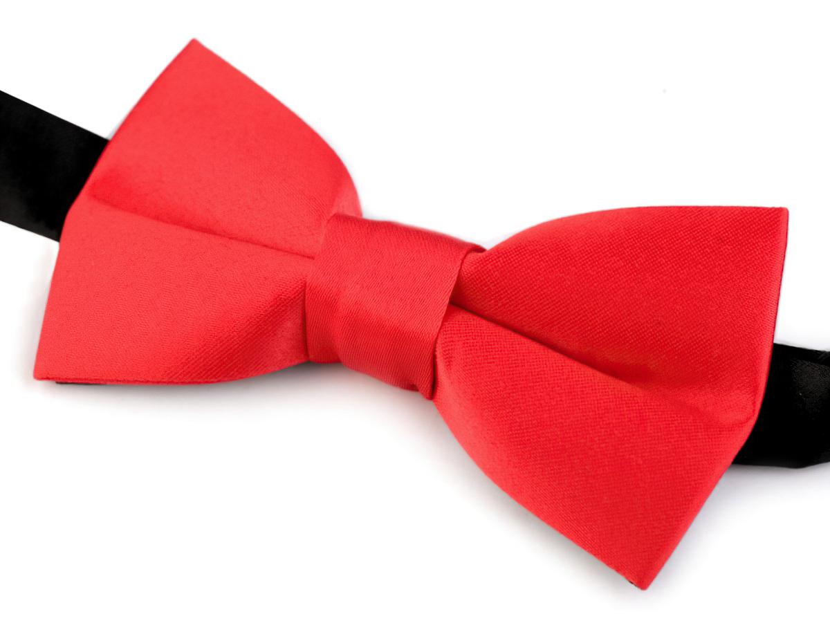 Motýlek dětský chlapecký červený, saténový, 720693/1