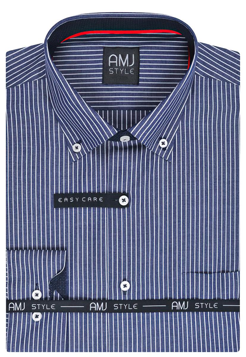 Pánská košile AMJ proužkovaná VDL789, dlouhý rukáv